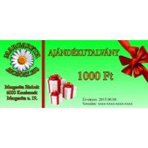1.000 Ft Ajándék utalvány