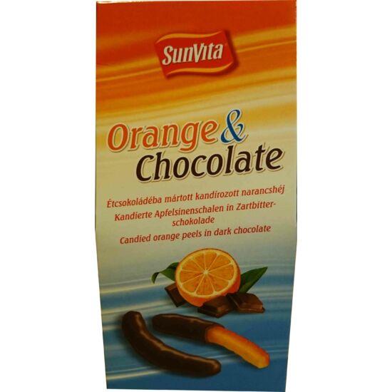 Étcsokoládéba mártott kandírozott narancshéj 150g