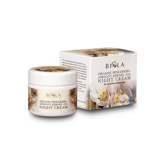 Bio görögszéna- barackmagolajos éjszakai arckrém 50 ml