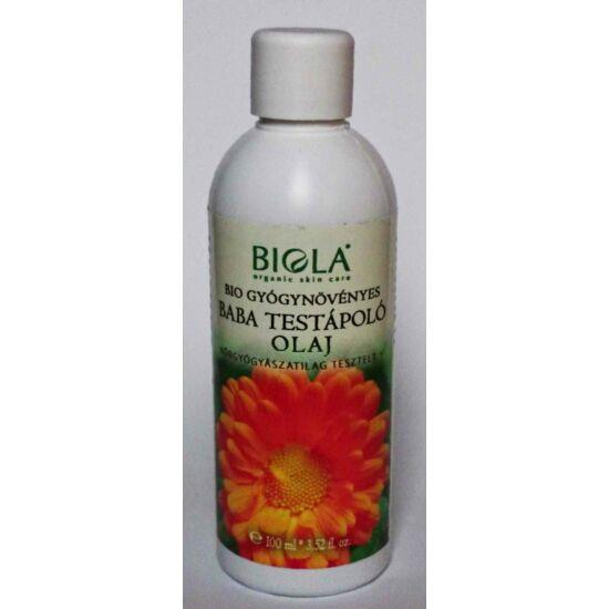 Bio gyógynövényes baba testápló olaj 100 ml